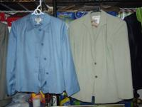 1 Green Silk Jones New York Shirt that is Size 10 and