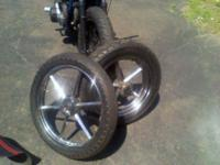 set of invader wheels came off a running 1972 ironhead