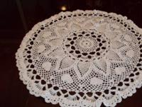 Have 1 large white Doilies very beautiful,  pineapple,