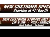 RENT A STORAGE UNIT STARTING AT AS LITTLE AS $1/DAY !
