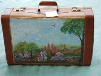 This is 1 of 2 Antique Hand Painted Suitcases we are