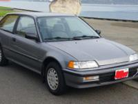 1991 honda civic hatchback 5 speed 40hwy/28in town mpg