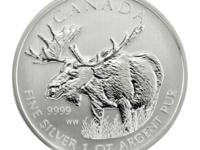 1 oz 2012 Canadian Wildlife Ser. Moose - 4th of 6th $ 5
