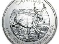 1 oz 2013 Canadian Wildlife Ser. Pronghorn Antelope -