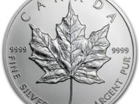 1 oz Misc. Year Canadian Maple Leaf $ 5 Silver Coin