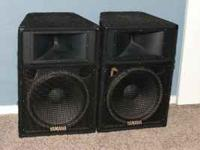 "I have for sale a set of 15"" Yamaha S115IV PA speakers."