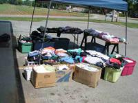 OPEN 9 TO 5 CLOSED SUNDAY used clothing $1.00 each