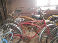 Selling Vintage bicycles and parts.3speeds, 10 speeds,