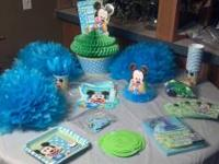 Disney baby boy 1st birthday party supplies. $25.00. If