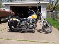 48 Panhead titled as 74 Engine has been completely
