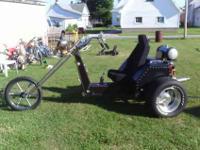 1981 vw trike 1600cc dualport engine , runs and rides
