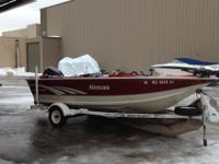 1997 Sylvan with a Mercury 90hp. The boat is very clean
