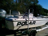 2002 Dynasty boat with a four stroke Yamaha outboard