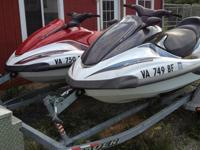 Two Yamaha 4 stroke Jet Skis, both are three seater. We
