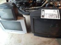 "4 TELEVISION s all working, various sizes 15-37"" comes"