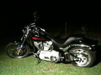 This Harley is in perfect shape. It has custom (loud)