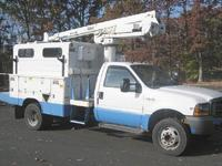 1999 Ford F550 Bucket Truck, 7.3L Diesel, articulating