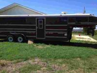 1995 Titan three horse slant load trailer with living