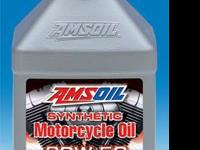 AMSOIL 20W-50 Synthetic Motorcycle Oil is a premium oil