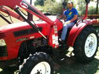 2008 JINMA TRACTOR LIKE NEW. MODEL 454. HAS 4-CYLINDER