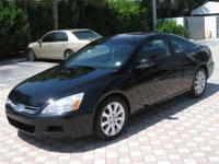 This 2007 Honda Accord 2dr EX Coupe features a 3.0L V6