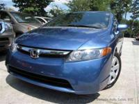 This 2008 Honda Civic Sdn 4dr LX Sedan features a 1.8L
