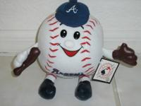 One Atlanta Braves stuffed ball with arms and legs and