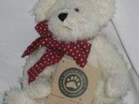 Latte O. Bear plush Boyds Bear off-white color style