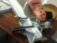 "Chicago Tools 10"" Compound Sliding Miter Saw with 4"