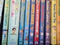 10 Dora DVDs in cases. Great condition. Titles are