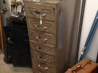 Vintage industrial filing cabinet. Ten drawers. Could