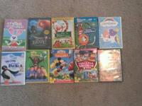 10 DVD's including 3 Disney.  Good condition.  $25.