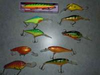 I HAVE 10 NEW TO ALMOST NEW FISHING BAITS. THEY ARE. 1-