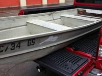 FOR SALE IS MY 10' ALUMINUM FLAT BOTTOM BOAT, I AM