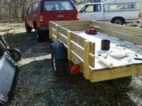 "Trailer has 13"" wheels new tires, new bearings, new"