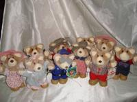 Up For Sale are 10-1986 Wendy's Furskin Country Bears.