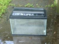 Asking $25 for 10 gallon fish tank with tank hood,