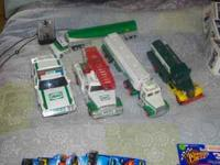 10 hess truck(6 in the box..4 out of the box) and 1 bp