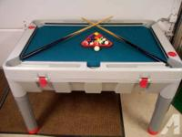 10 IN 1 CHAMPIONSHIP SPORTS TABLE WITH INSIDE STORAGE
