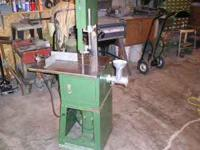 10 inch meat saw with sliding table with meat grinder.