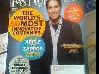 "10 issues of ""Fast Company"" magazine from 2008-09."