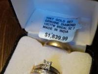 10 kt gold 1/2 cwwt diamond woman's wedding rings