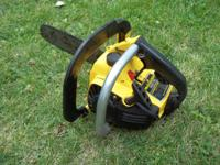 Nice light compact chainsaw. Great for smaller trees,