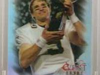 Drew Brees holding the Super Bowl Trophy! serially