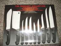 12 Reinhart collection 10 peice knife sets im asking
