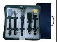 "10 Piece grilling set includes 13.5"" Basting Brush,"