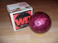 ten pound columbia bowling ball, never used, holes were