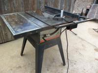 Table Saw, 10-In. Belt Drive, 110/220-Volt, Baldor