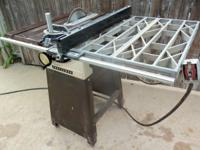 220-V. Tablesaw, Sears, 10-In. With Stand & Right