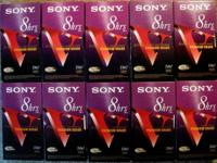 10 SONY VHS TAPES BLANK T-160 Premium Grade w/Box